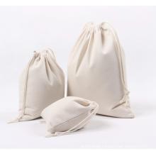 custom printed muslin cotton pouch drawstring bag canvas pouch organic cotton drawstring bags