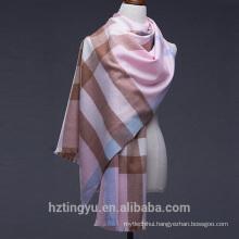 Texted Material Mongolia 200*70cm printed plaid 100%Wool scarf shawl