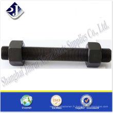 SAE Tige filetée noir TS16949 ISO9001