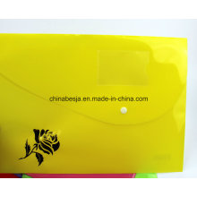 Chinese Manufacturer and Exporter of PP File Bag, File Folder, Document File. with Snap Fastener