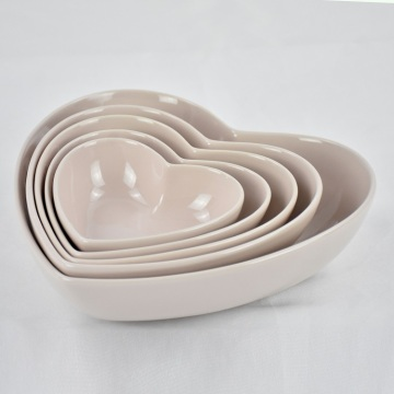 Salat und Obst Home Heart Shaped Kitchen Bowl