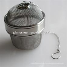China infusor de bola de chá de aço inoxidável usado para café ou chá filtro