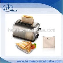Non-Stick, Torradeira Sandwich Toast Bags - Conjunto de 2