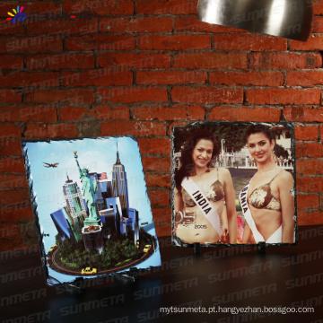 Sunmeta fábrica diretamente 3D sublimação rock slate foto SH31 30 * 30cm
