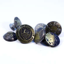 Custom Private Brand Jeans Garment Button Private Label Accessories personalized custom own brand