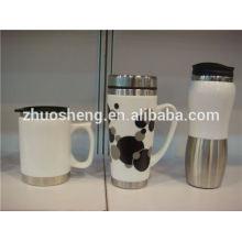 neue Produkte 2015 innovatives Produkt Edelstahl unten Porzellan Keramik Becher, Geschenk Tasse