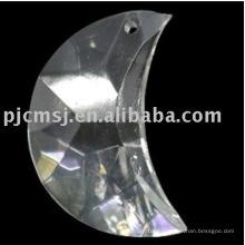 2015 горячая распродажа дешевые красочные кристалл украшения для Рождественской елки украшения формы Луны
