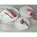 2016 new style Haonai good quality ceramic cake plate, dessert ceramic plate