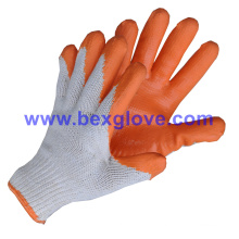 Extra Thick, Firm & Comfortable 10 Gauge Tc Liner, Latex Coating, Smooth Finish Safety Gloves