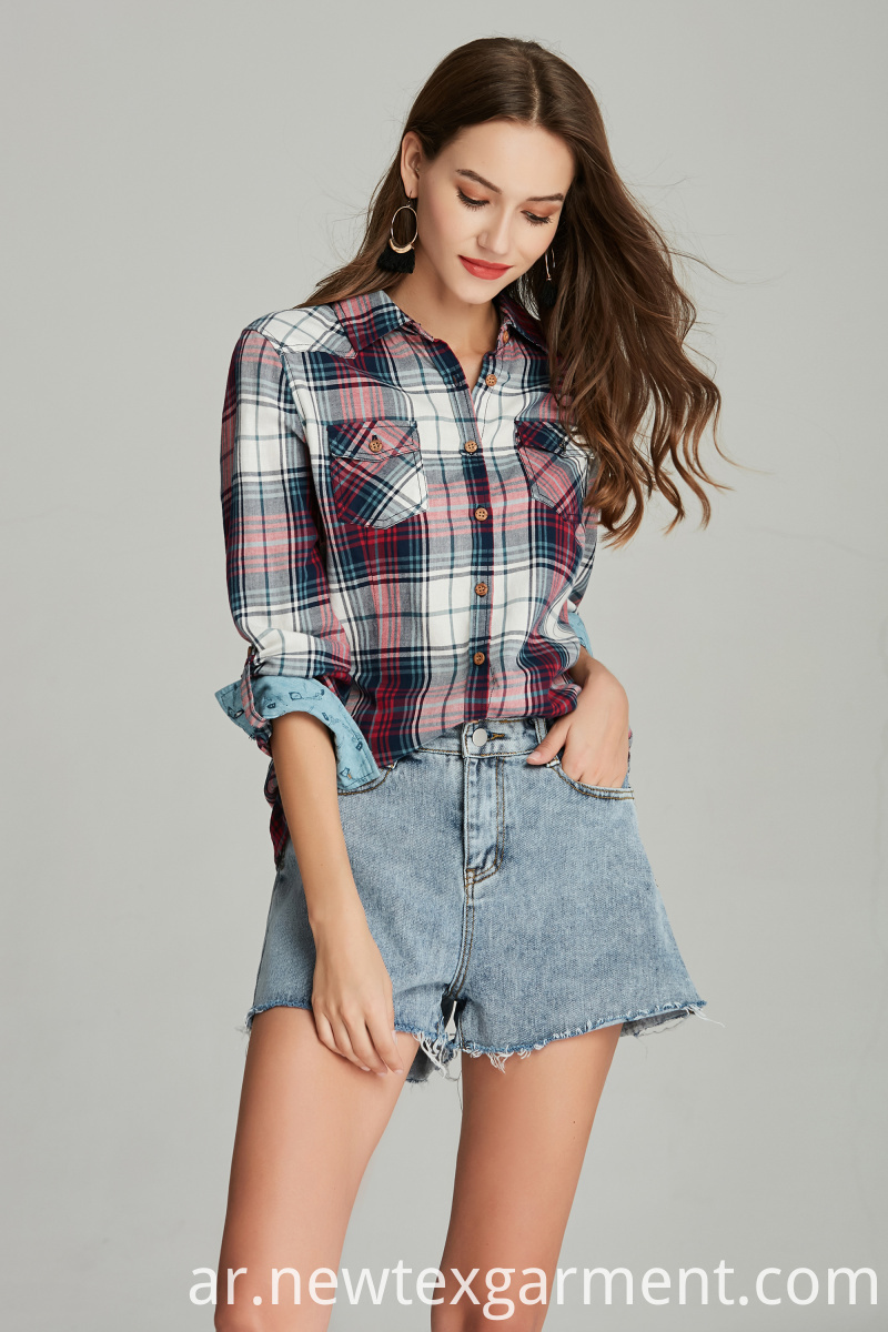 plaid womans shirt blouse