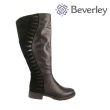 Australia inport sheep fur sheep fur linging women winter shoes Flat heeel black cowhide top quality women boot