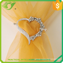wholesale plastic heart with diamond curtain Tieback Buckles for window shade