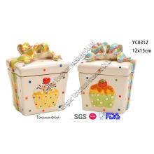 Weihnachten Keramik Cookie Jar Set für Großhandel