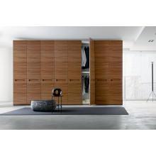 Sandalwood Surface Melamine Bedroom Wardrobe for Project