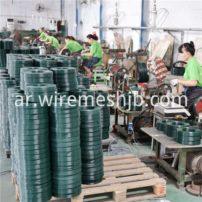 Green PVC Coated Wire