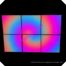 Decoração de iluminação LED arte levou parede 3D