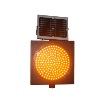 Luz de señal de advertencia de tráfico led de panel solar de 400 mm