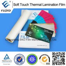 Película de Laminación Térmica de Soft Touch para Eko Brand