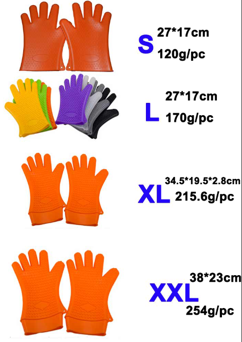 4 size gloves