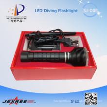 Jexree luz de pesca impermeable Led antorcha de buceo 8.4v 2500LM llevó la lámpara con batería 18650