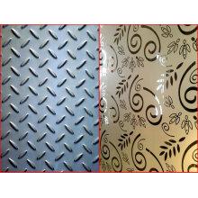 Placa gravada de aço inoxidável / folha quadriculado / diamante / placa de aço do passo