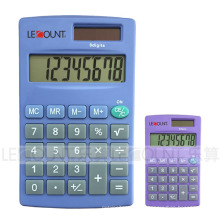 8 chiffres Calculatrice de poche à double alimentation avec diverses couleurs en option (LC332B)