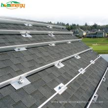 25 años de garantía Aleación de aluminio o Sistema de montaje solar de material galvanizado por inmersión en caliente en la azotea