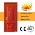 Interior Solid Wood Main Door Design Sc-W112