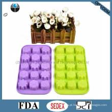 Molde de Chocolate para Gelo 15-Cavity Silicone Ice Cube Bandeja Si09