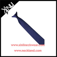 Dry-clean Only Polyester Jacquard Woven Clip on Tie with Knot Ready
