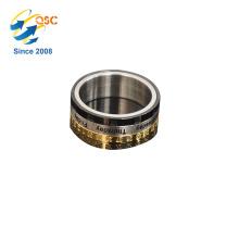 Fabriqué à la main et personnalisé fait à la main pas cher en gros anneau en acier inoxydable