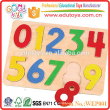 Hot Sale Children Wooden Number Puzzle