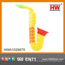 Alta qualidade barata brinquedo de plástico mini saxofone