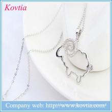 Ожерелье ожерелья ожерелья ожерелья оптовой продажи 925 стерлингового серебра 925 привесное