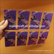 Auto-adesiva adesivos de folha de strass acrílico