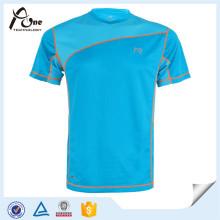 Custom Mens Gym T-Shirt Tailliertes Männer-T-Shirt aus Biobaumwolle (dunkel) Fitness Clothes