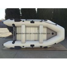 Barco de pesca inflável Material de PVC casco de CE