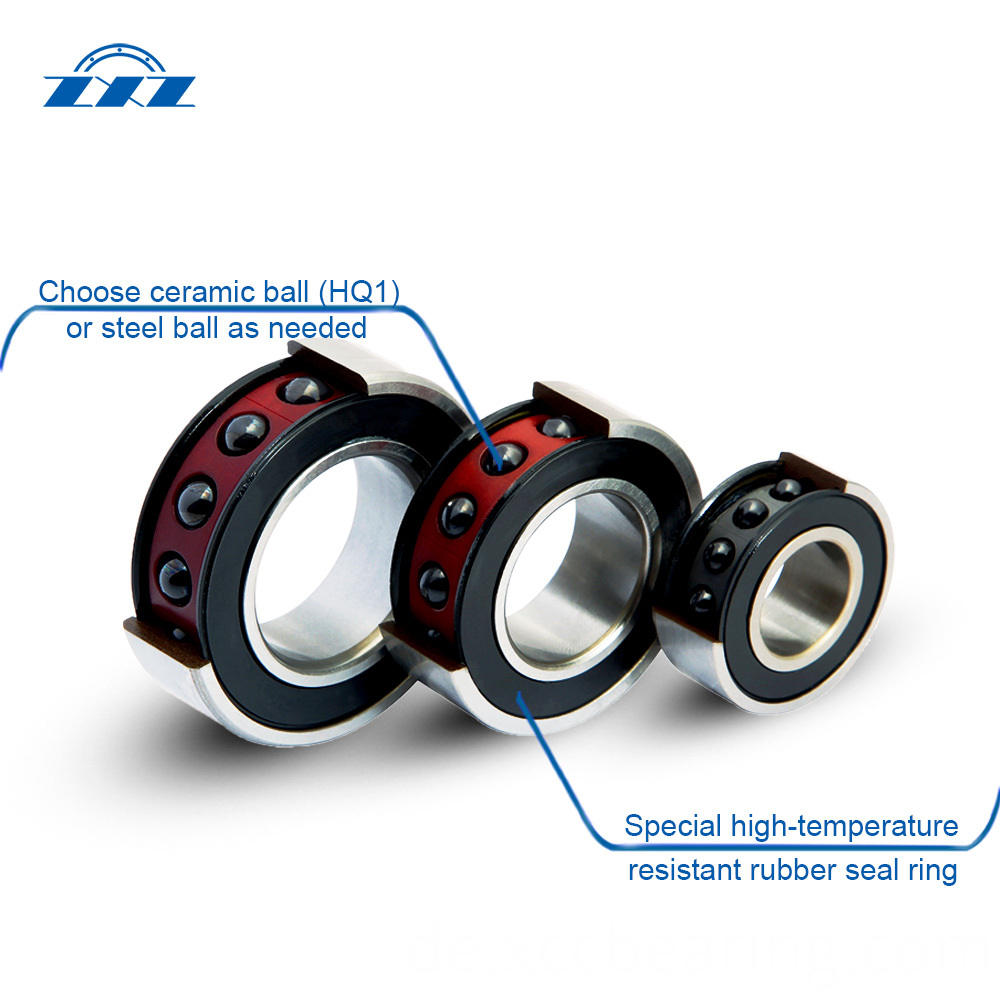 High Precision Sealed Angular Contact Ball Bearings structure