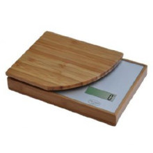 Electronic Food Kitchen Scale, Digital Bamboo Kitchen Scale