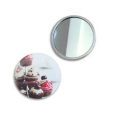 Miroir cosmétique de poche en métal