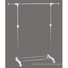 Rack para ropa robusto de un solo poste