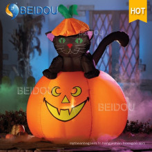 Décorations gonflables Inflatable Halloween Cat Spirit Ghost House Pumpkin