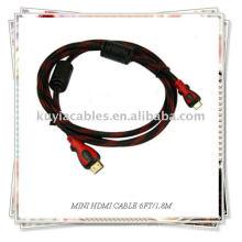 НОВЫЙ 6-футовый мини-HDMI кабель HDMI для камеры HDTV DV DC