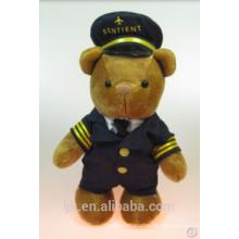 Maßgeschneiderte Plüschtiere benutzerdefinierte gefüllte Tiere Pilot Teddybär
