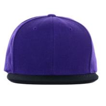 Фиолетовый и черный пользовательский Оптовая Брим Snapback Шляпы