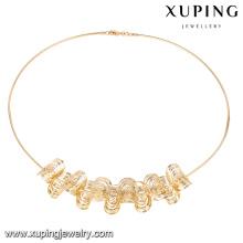 43183 Xuping New mince 18k couleur or aucun collier de pierre pour les filles