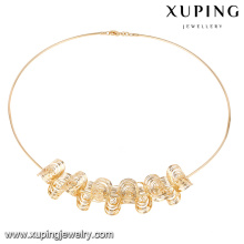 43183 Xuping New thin 18k gold color no stone necklace for girls