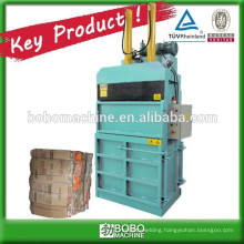 Cardboard baling press machine