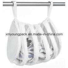 Weißer Nylon Mesh Sneaker Wäscherei Waschbeutel