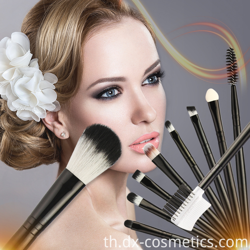 10 Piece Travel Makeup Brushes Set 1